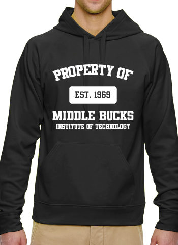 Black Hooded Sweatshirt With White MBIT Logo