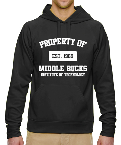 Black Hooded Sweatshirt With White MBIT Logo